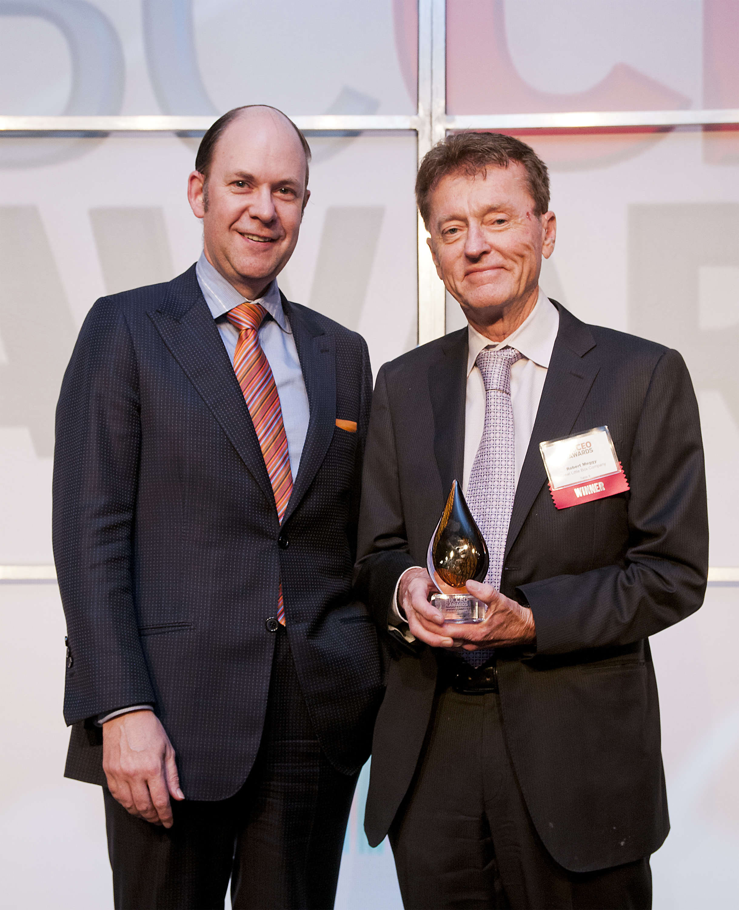 Business in Vancouver - BC CEO Awards, Small Private Company Category: Robert Meggy, CEO (2014)